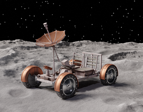 3D model Apollo Lunar Rover