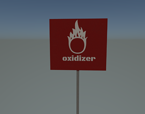 3D model Sign oxidizer