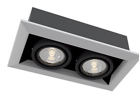 Downlight Metal Modern DL008-2-02-W Maytoni 3D model