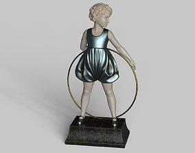 3D model Girl Statue