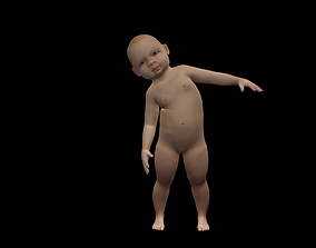 Baby rig 3D model animated
