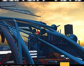 3D model Sci Fi City Futuristic Architecture A5 A6