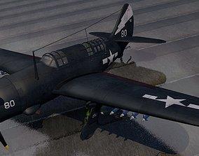3D model Curtiss SB2C-4 Helldiver