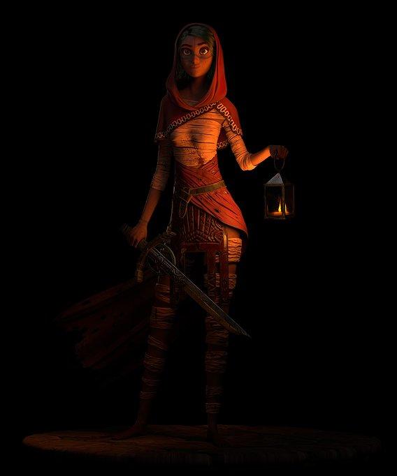 The Warrior in the dark