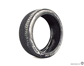 Tyre bridgestone 3D