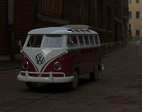 Wlksvagen Samba T1 Hippie 3D model
