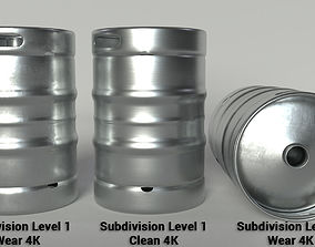 3D Beer Keg - PBR Clean and Wear textures ale
