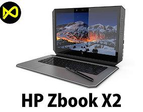 HP ZBook X2 3D model