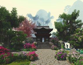 3D Zen Garden Mountain Render Lumion 8