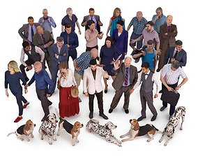 3D model City People and Pets Collection x33