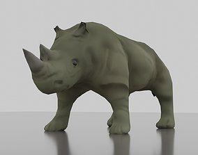 wildlife 3D model VR / AR ready Rhinoceros
