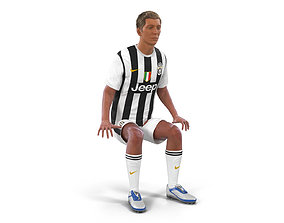 Soccer Player Juventus Rigged 2 3D Model rigged