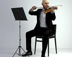3D Scan Man Musician 029 musician