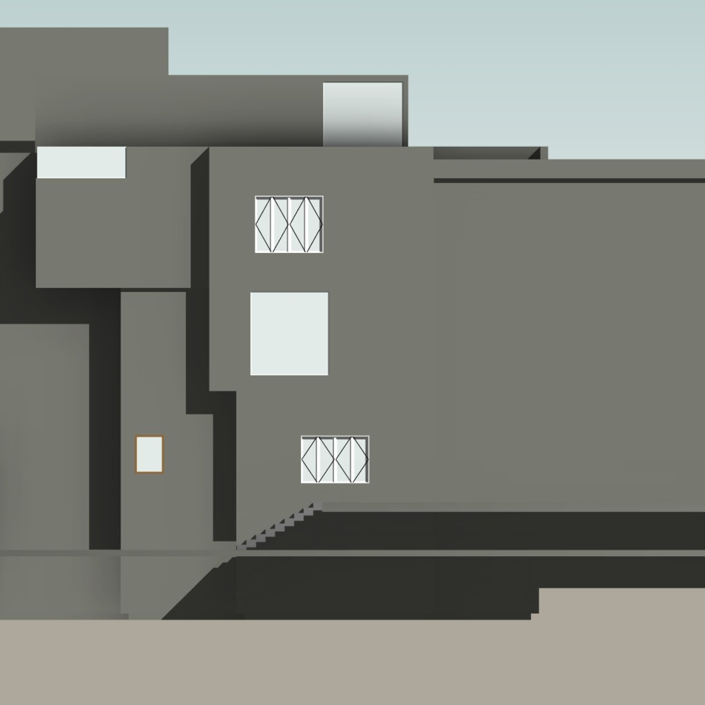 Large villa sketches