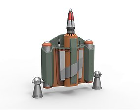 Boba Fett Jetpack from The Mandalorian TV 3D print model 1