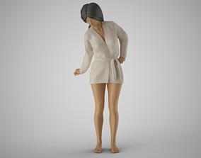 3D printable model Woman Looking Down