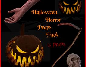 3D model Halloween Horror Props Pack