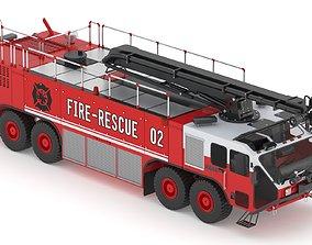3D model Fire Rescue Truck 02