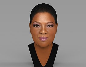 Oprah Winfrey bust ready for full color 3D printing