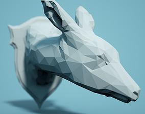 Low Poly Deer Head Model