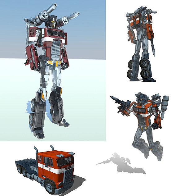 Optimus Prime. Sketchup+Vray