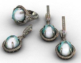 Diamond and mineral stones set 3D print model 3D print