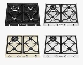 SMEG Cooktops 01 3D asset