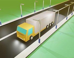 3D model Truck road