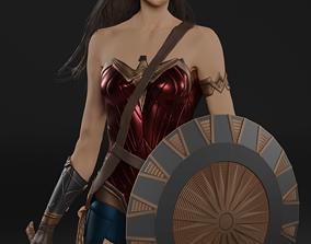 3D print model Wonder Woman with shield