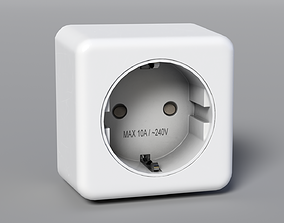 3D model low-poly PBR Plug Socket