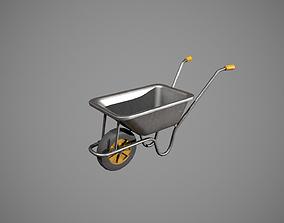 Metal - Yellow Wheelbarrow 3D asset