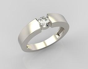 3D printable model Classic diamond ring 2