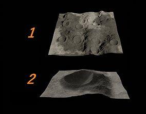 Lunar crater 3D two models