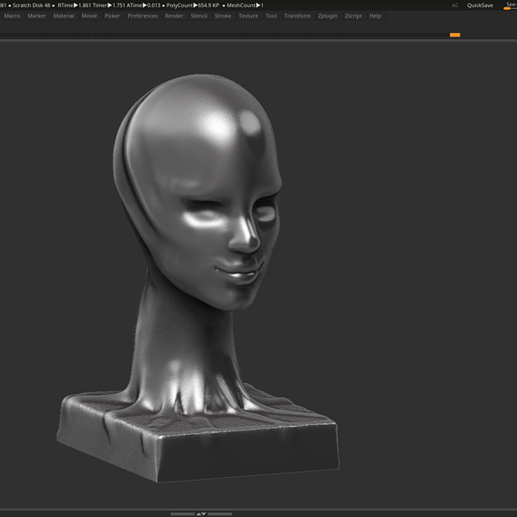 Modern concept head sculpture 3d print model
