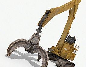 Crawler Grab Crane 3D asset