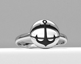 new fashion round sailor anchor jewelry ring