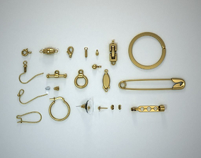Jewellery catches hinges and findings 3D