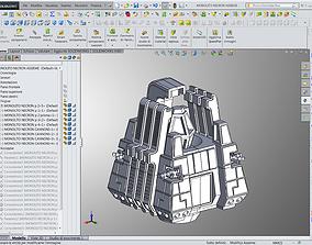 SPACE EGYPTIAN CYBORG pYRAMID 28mm size 3D print model