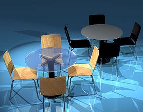 Cafeteria tables 3D model