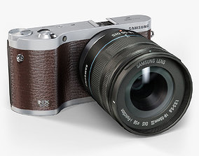 Samsung NX300 Brown mirrorless digital camera 3D asset 2