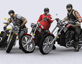 3DRT - Motorbikes Collection low-poly