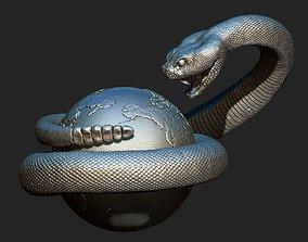 3D printable model rattlesnake 2