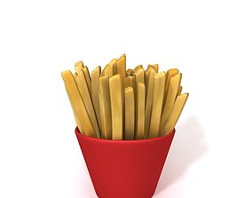 French fries 3D model fry