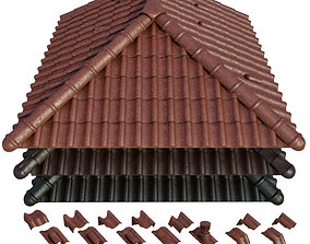 3D model Roof and Ceramic tiles