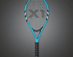 3D asset SAG - Tennis Racket 01a - PBR Game Ready