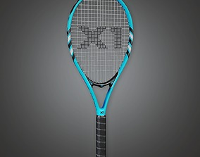 Tennis Racket 01a - Sports And Gym 3D model