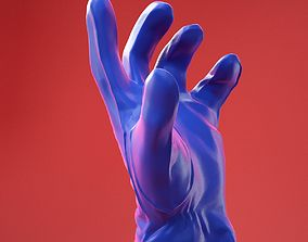 Male Gloved Hand 13 3D
