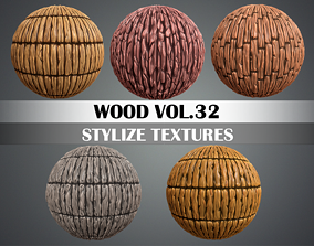 Stylized Wood Vol 32 - Hand Painted Texture 3D model