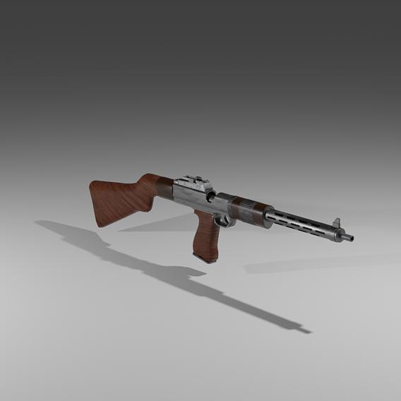 Unidentified austrian machine pistol