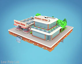 Cartoon City Block Fashion Store 3D model